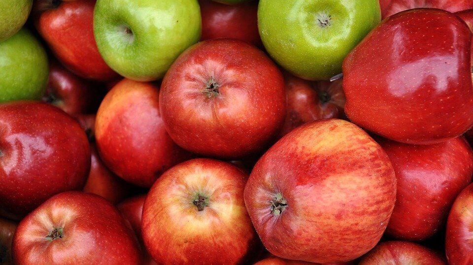 Pommes &quot;width =&quot; 960 &quot;height =&quot; 539 &quot;/&gt; </figure> <p> Les pommes sont des fruits très sains qui sont parfaits pour la fonction intestinale, car ils sont chargés de <a href=