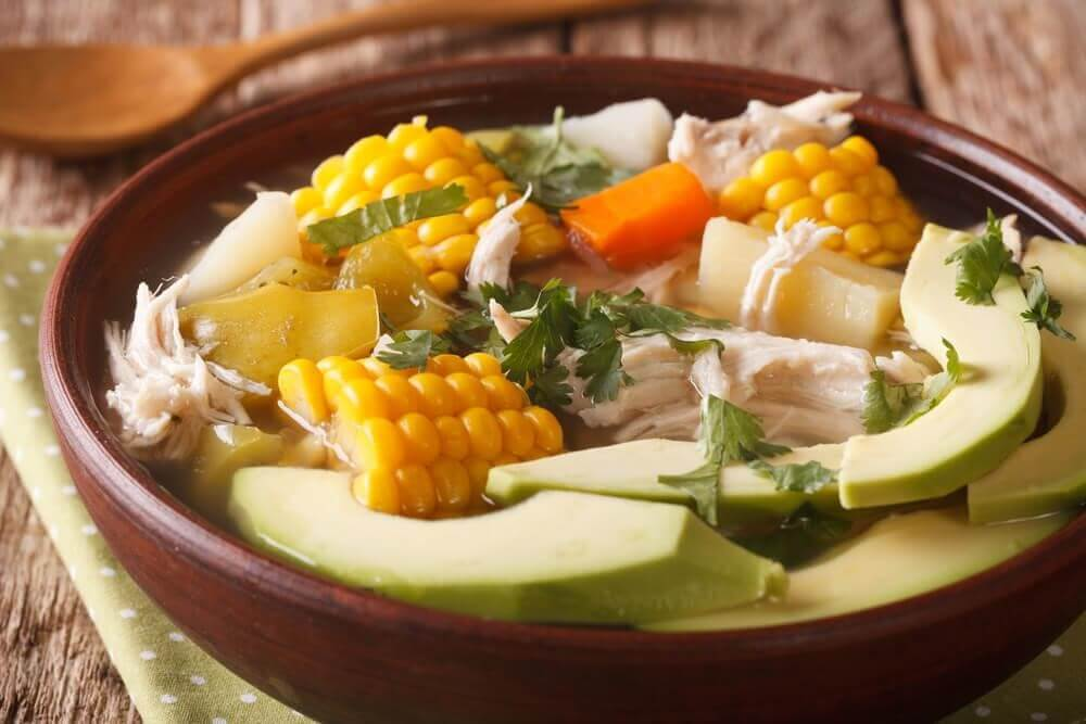 bowl of ajiaco soup