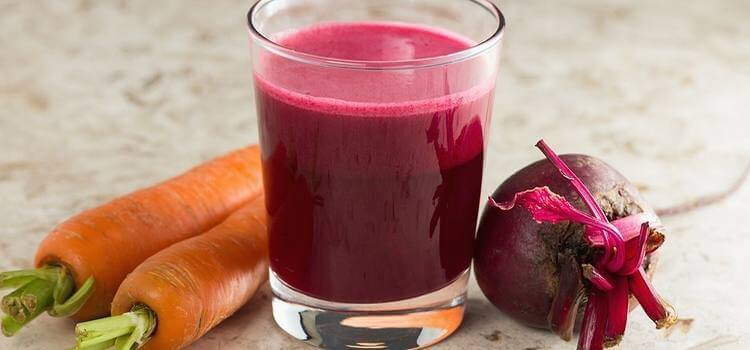 Carrot beet smoothie.
