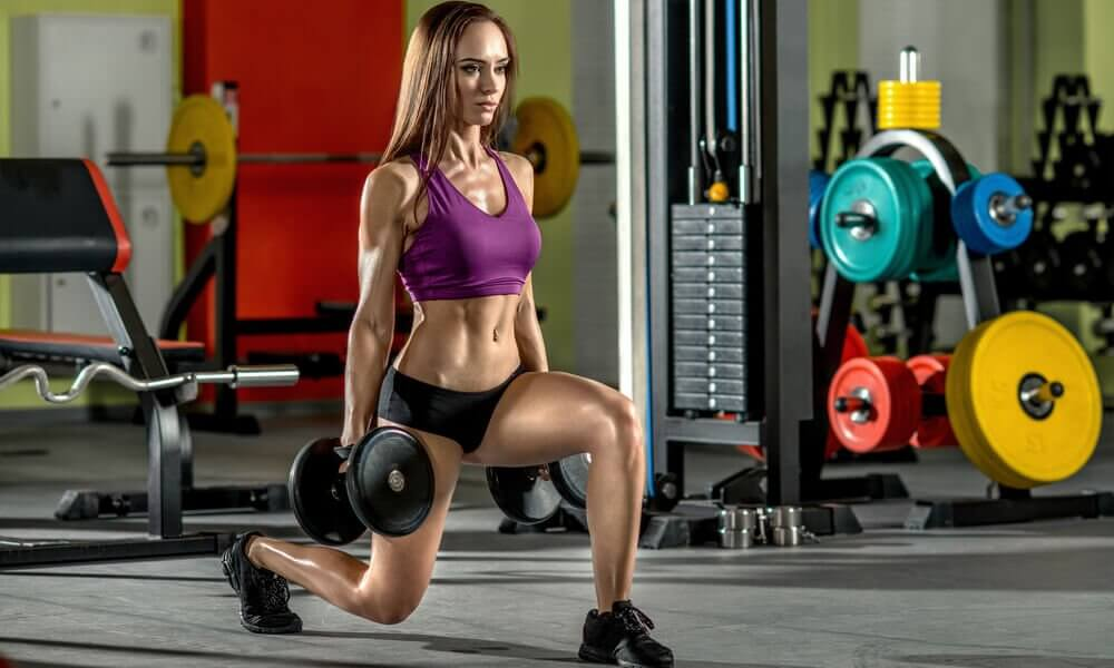 Backward lunges for glutes.