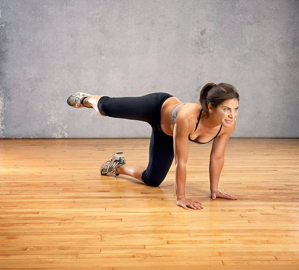 All-fours for glutes.