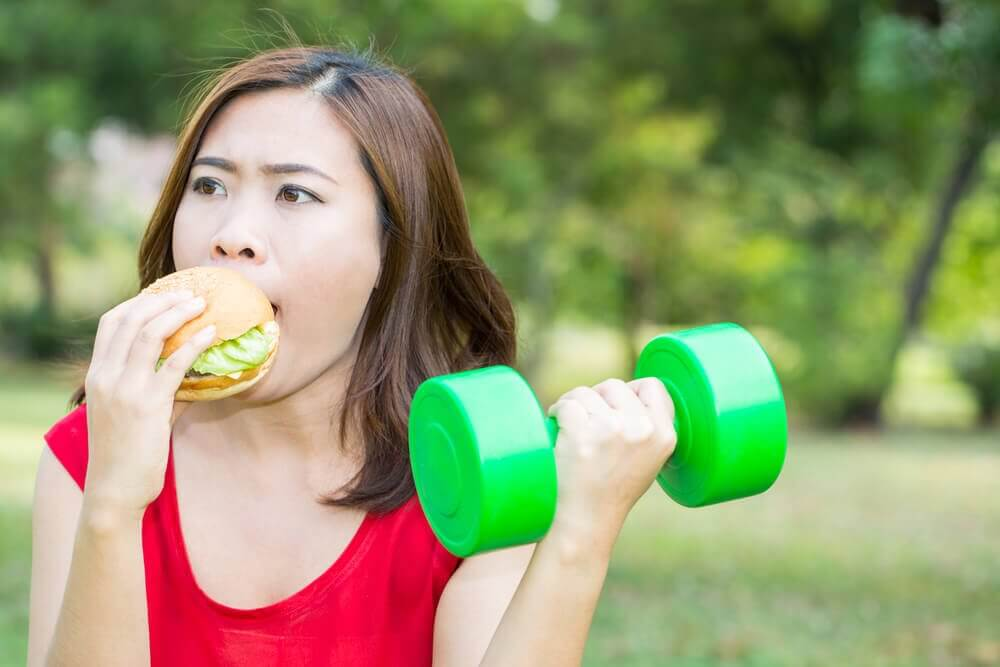If you exercise, can you eat whatever you want afterwards?