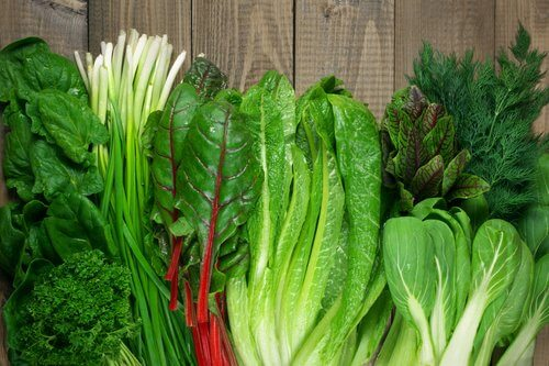 Green leafy vegetables which are one way to treat warts