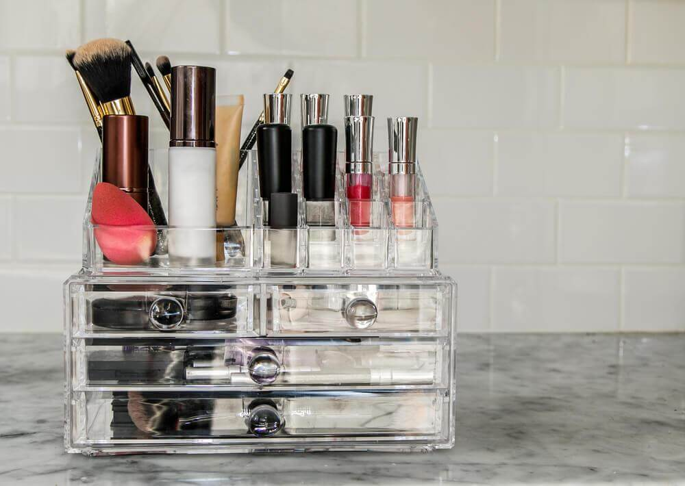 Homemade Makeup Organizers