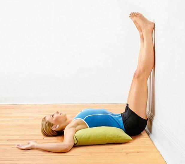Woman raising her legs