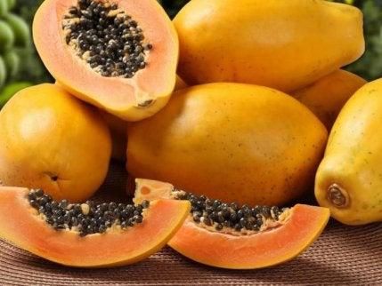 Slices of papaya