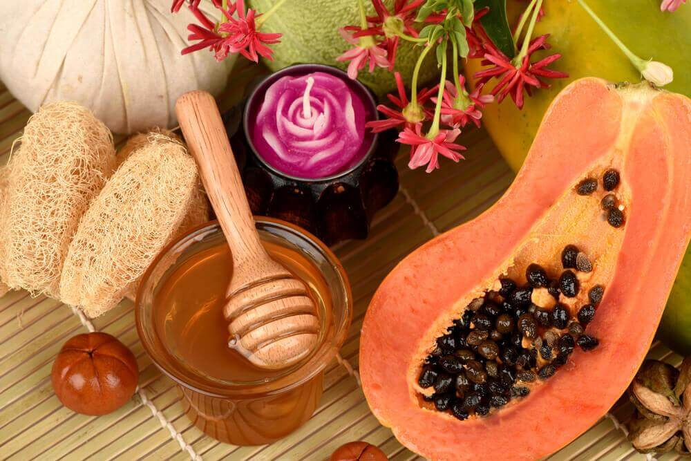 papaya and honey