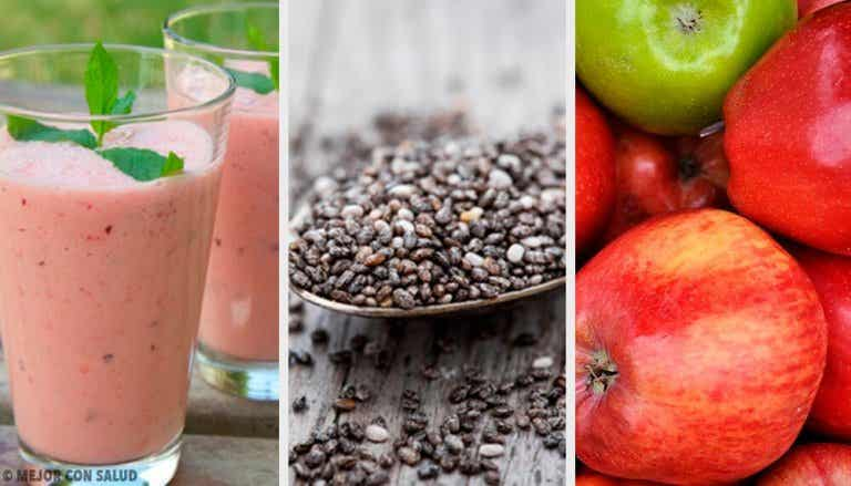 Prune, Chia and Apple Smoothie to Regulate Your Intestine