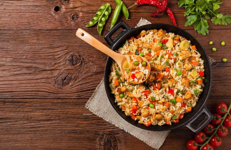 Scrumptious Rice with Chicken and Veggies