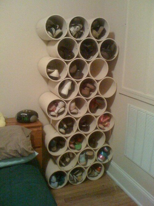 Shoe Racks Made of Cardboard