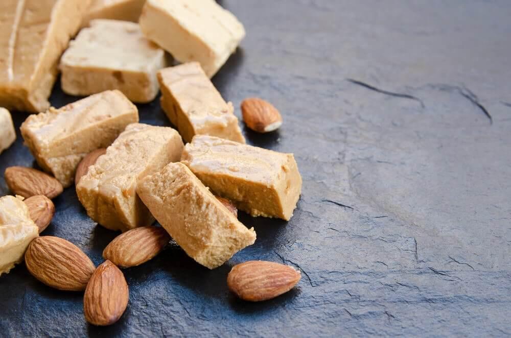 Spanish almond nougat