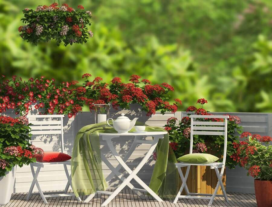Beautiful deck garden