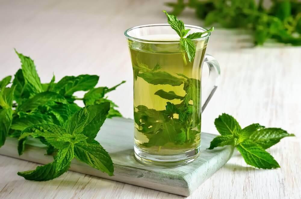 Healthy Nighttime Drinks: Mint tea