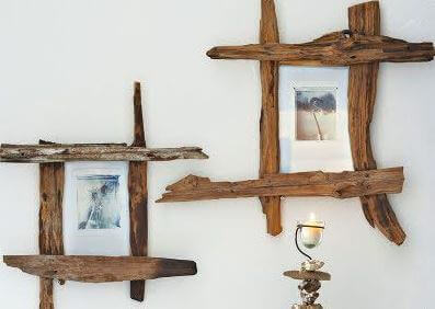 Some photo frames made out of wood off-cuts