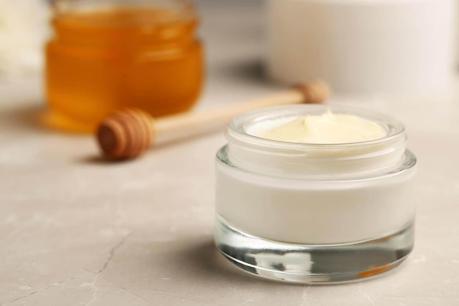 A jar of skin cream.