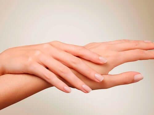 A woman's hands.