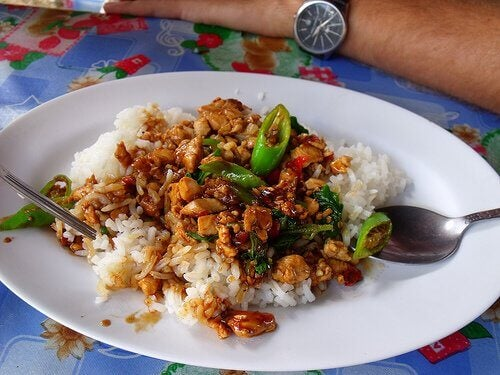 chinese rice with chicken