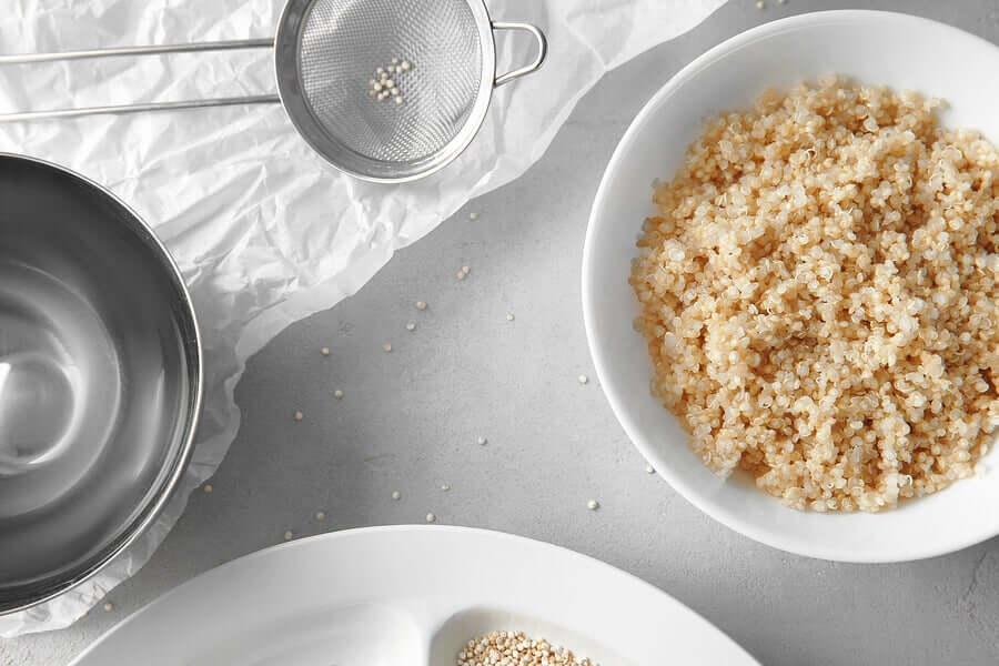 A fresh bowl of quinoa.
