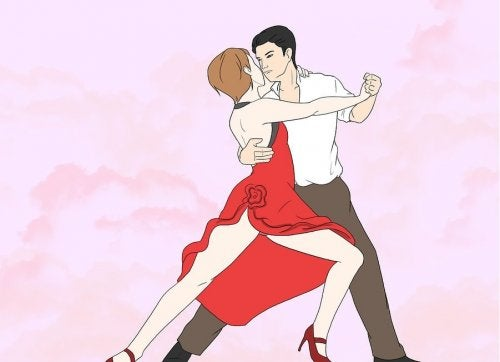 Dance therapy: a man and woman dancing tango.