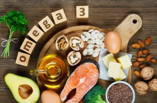 Food rich in omega-3.