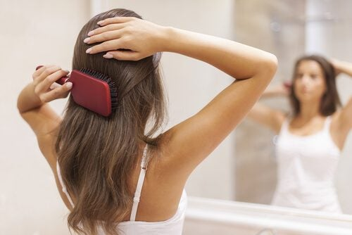 Combing your hair immediately after showering