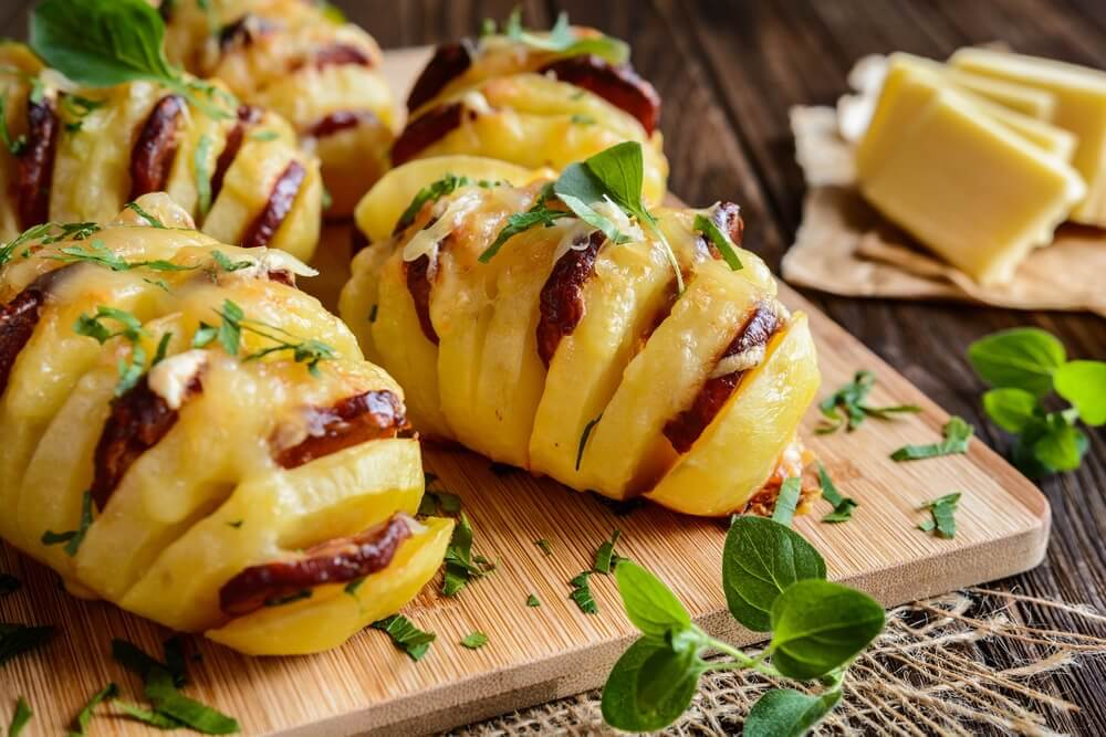 Try These Delicious Potatoes Stuffed with Chorizo and Cheese