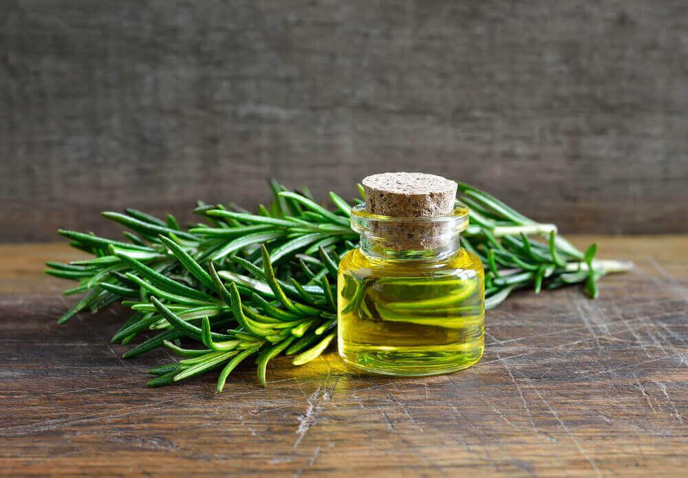 Rosemary essential oil.