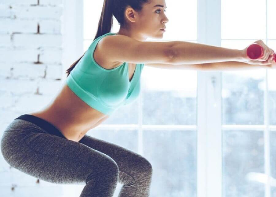 Squats as butt-lifting exercises.