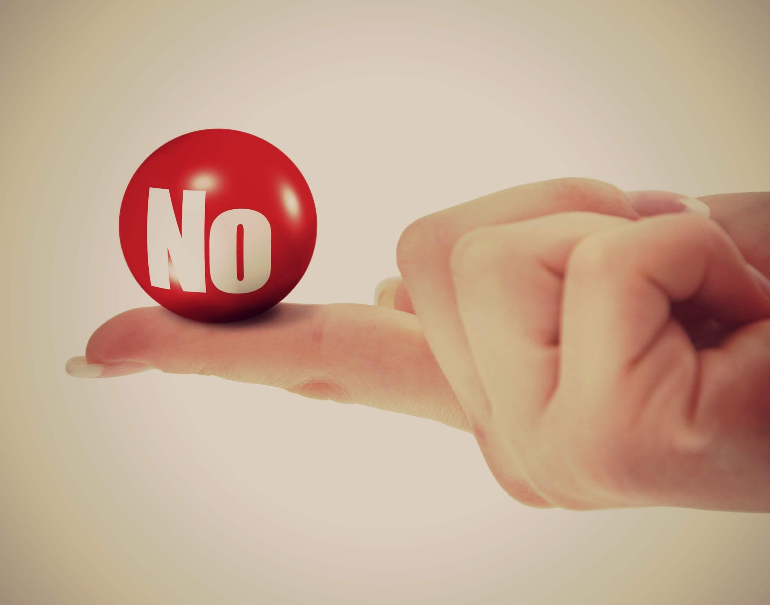 Stick to saying no