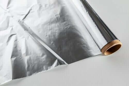 Roll of aluminium foil.