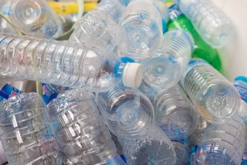 A pile of plastic bottles