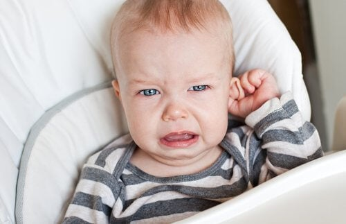 A baby suffering from baby colic