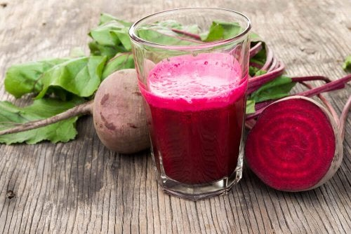 A beetroot smoothie