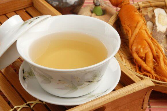 A cup of Ginseng tea which can be used for Stabilizing Blood Sugar Levels