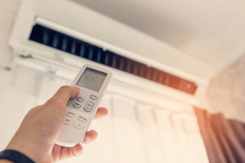 Remote pointing at air conditioning