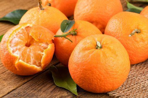 A few tangerines.