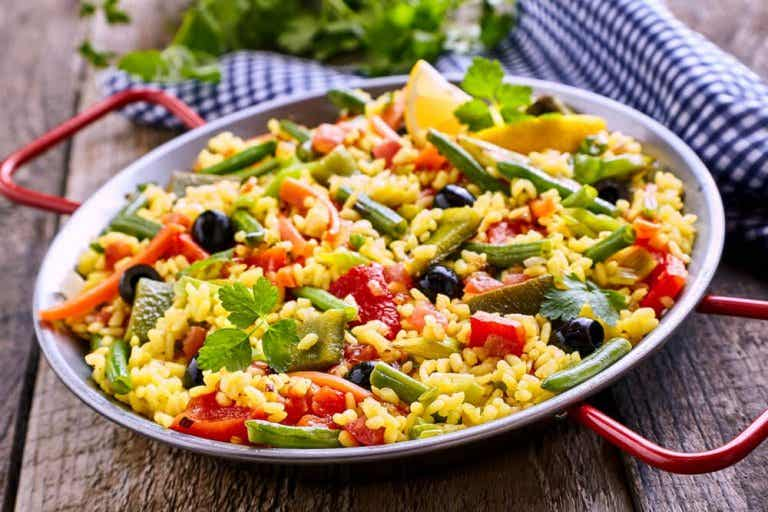 How to Make a Low-calorie Vegetarian Paella