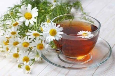A cup of chamomile infusion, hiatal hernia.