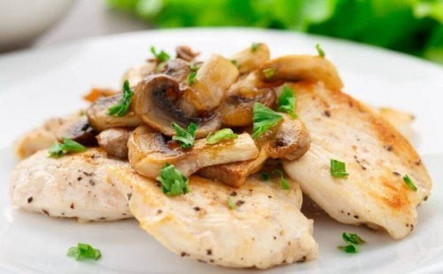 Chicken Au Gratin with Mushrooms Recipe