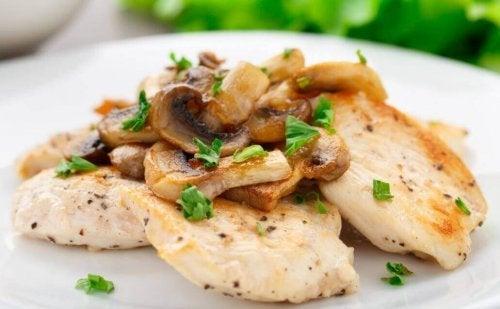 Chicken Au Gratin with Mushrooms Recipe