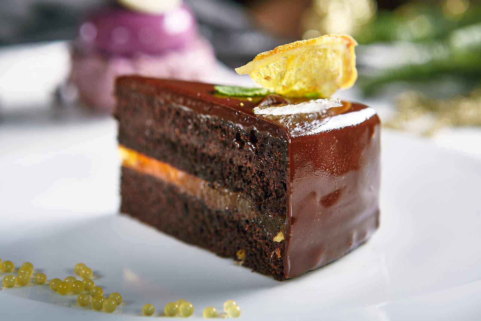 Chocolate cake recipes: with lemon.