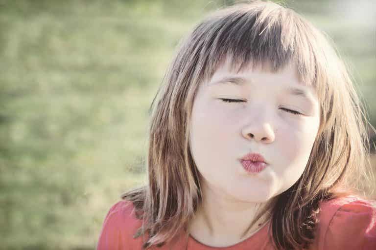 You Can't Force Children to Kiss in Greeting