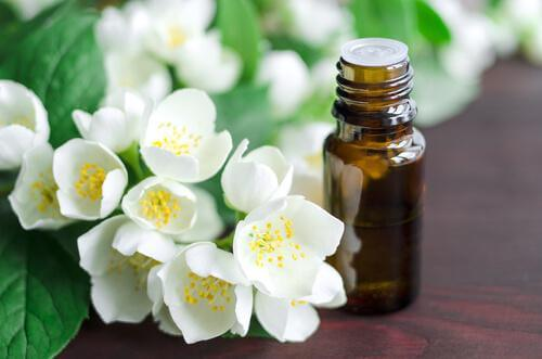 Apply jasmine essential oil to straighten your hair.