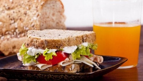 Turkey sandwich.