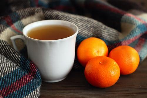 Tangerine peel tea: a remedy to fall asleep in 5 minutes