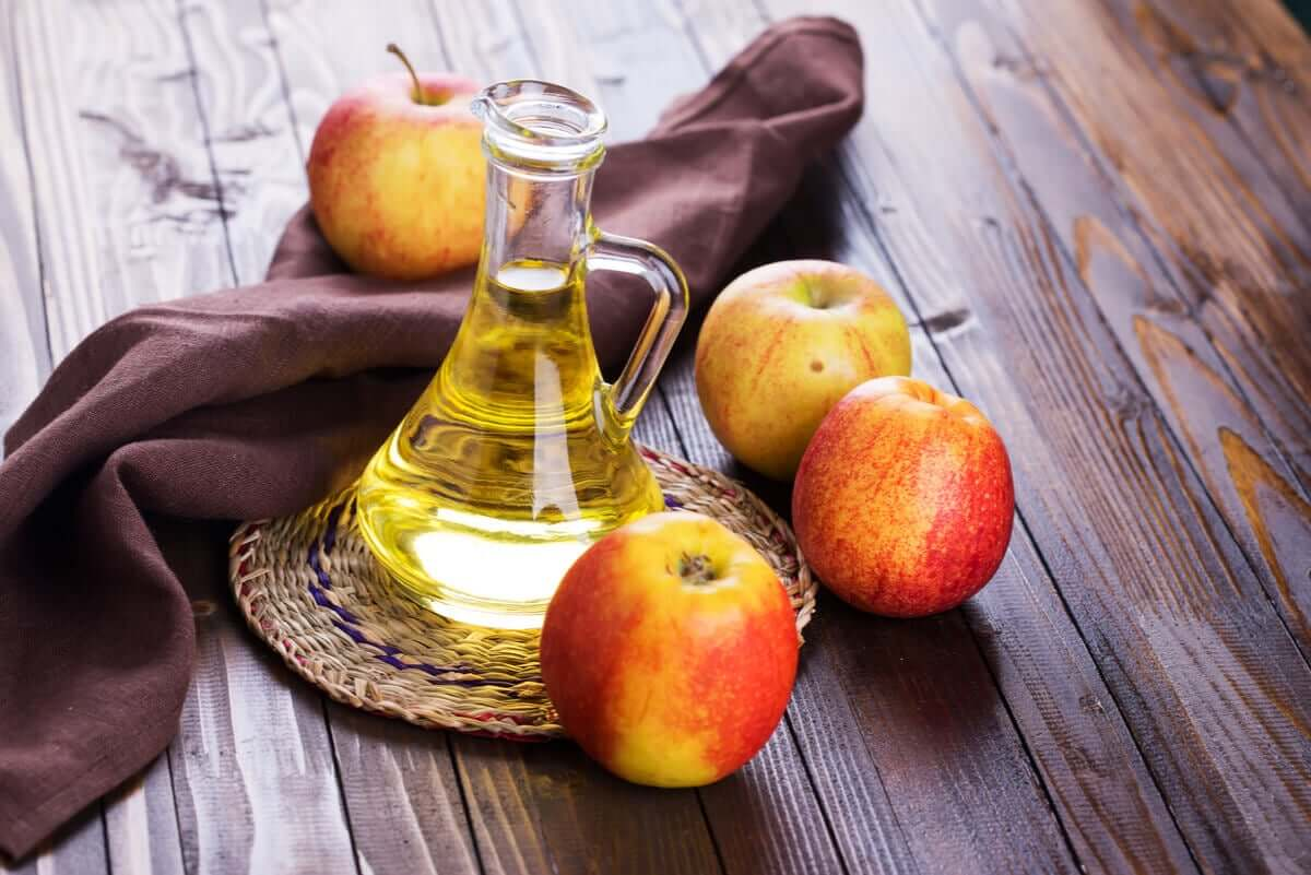Apples and apple cider vinegar.