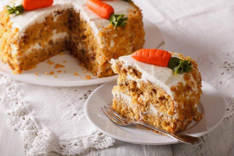 Delicious Fat-free, Eggless Vegan Carrot Cake