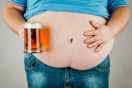A beer belly.