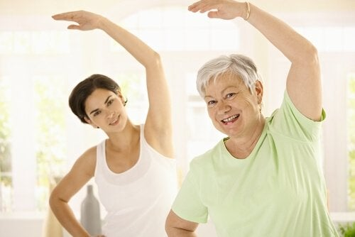 Exercise helps prevent weight gain with age.