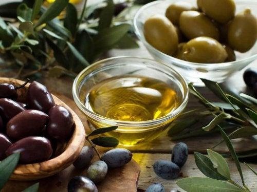 oliven og olie